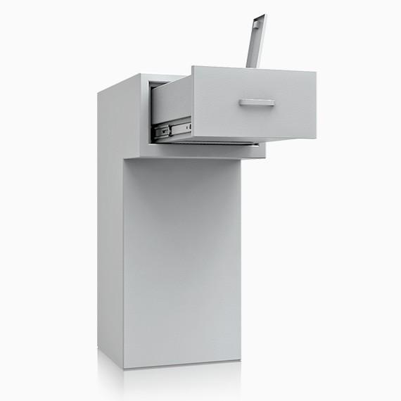St. Gallen Deposit OV 7 - Deposit-Wertschutzschrank D-I, Schublade rückseitig ohne Schloss, 270 mm ü