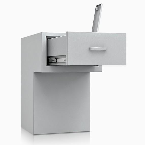 St. Gallen Deposit OV 6 - Deposit-Wertschutzschrank D-I, Schublade rückseitig ohne Schloss, 270 mm ü